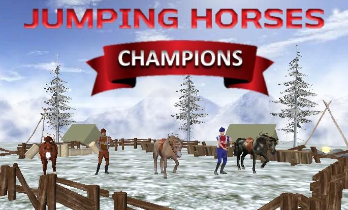 Image Jumping Horses